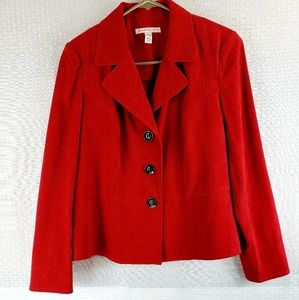 Ladies JM Collection Red Blazer Size 6P JMC-CAREZ